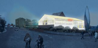 Artist's impression of Ashford's new Coachworks space, which will include an open-air performance space