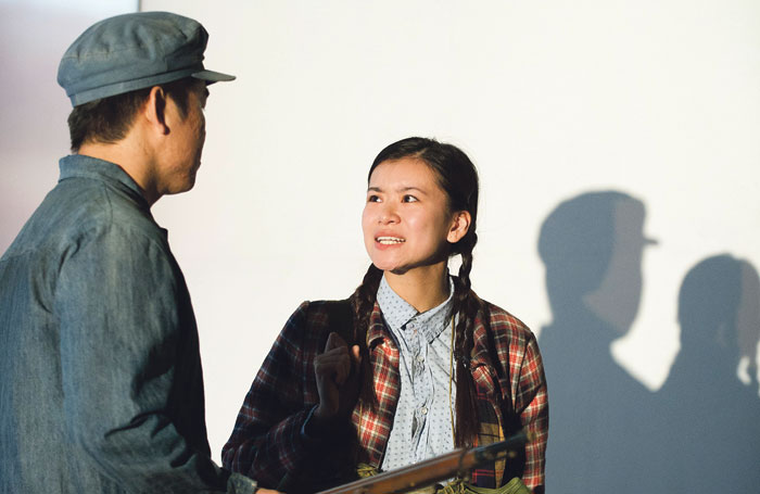Victor Chi and Katie Leung in Wild Swans at the Young Vic in 2012. Photo: Tristram Kenton