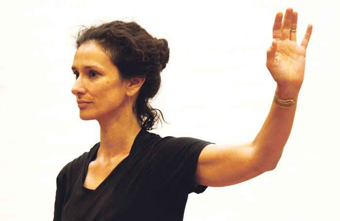 Indira Varma in rehearsals for Exit the King at the National, London. Photo: Simon Annand