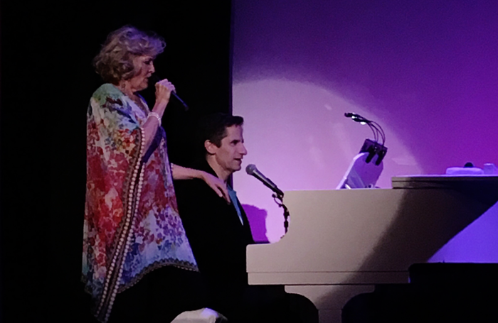 Christine Ebersole and Seth Rudetsky. Photo: Mark Shenton