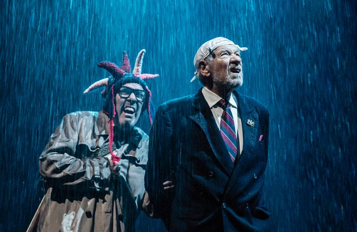 Lloyd Hutchinson And Ian McKellen In King Lear At The Duke Of Yorks Theatre London