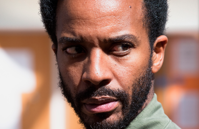 Andre Holland in rehearsal for Othello. Photo: Simon Annand