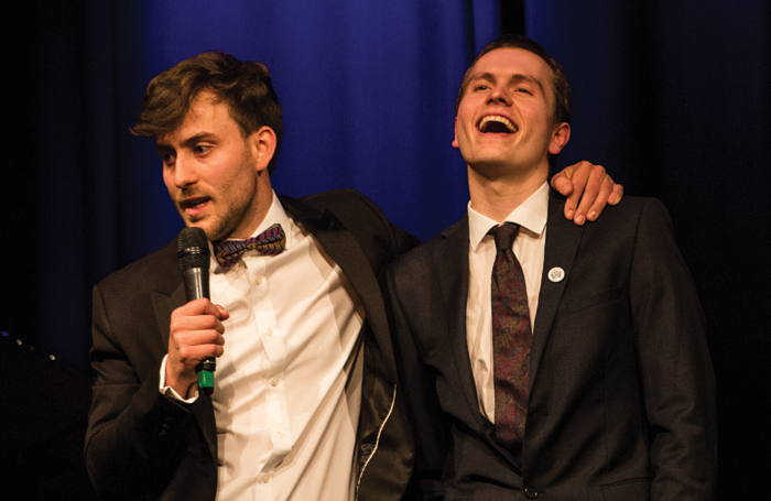 Dawson and Meteyard at a 2017 fundraising event at the Other Palace. Photo: Ali Wright