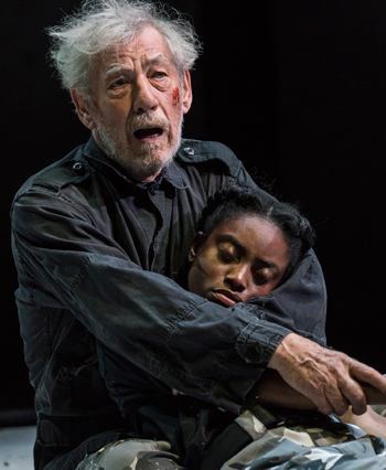 Ian McKellen and Anita-Joy Uwajeh in King Lear at the Duke of York's Theatre. Photo: Johan Persson