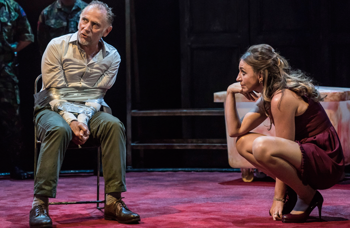 Danny Webb and Kirsty Bushell in King Lear at Duke of York's Theatre. Photo: Johan Persson