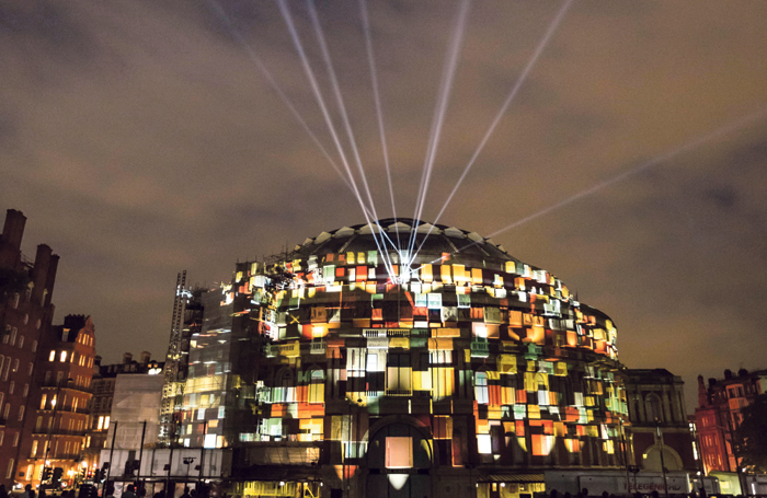 Exterior of the Royal Albert Hall for Five Telegrams. Photo: Justin Sutcliffe