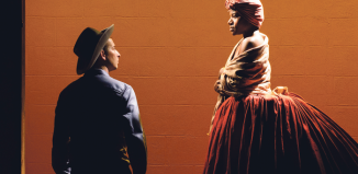 Scott Sheppard and Jennifer Kidwell in Underground Railroad Game. Photo: Ben Arons Photography