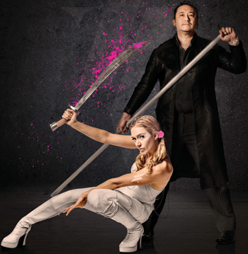 Anya Anastasia and Gareth Chin. Photo: Gee Greenslade