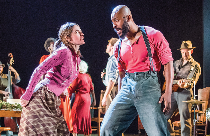 Shirley Henderson and Arinze Kene in Girl From the North Country. Photo: Tristram Kenton