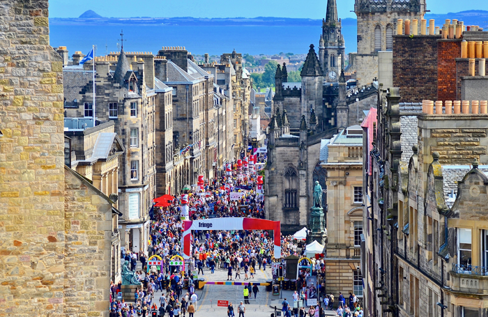 The Royal Mile during Edinburgh Fringe. Photo: shutterstock