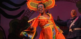 Tameka Empson in Aladdin at Hackney Empire in 2009