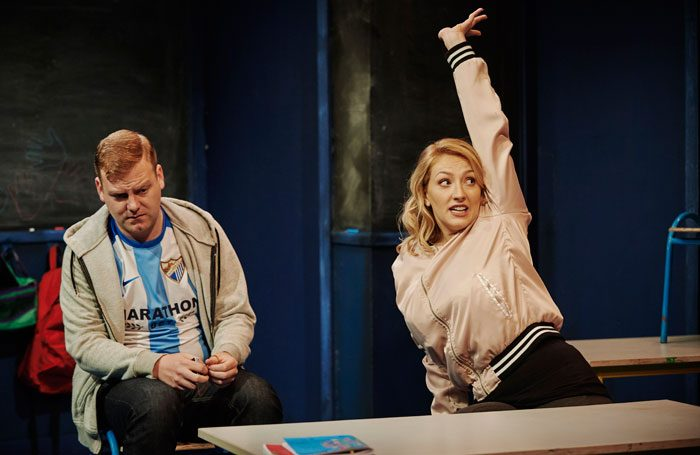 Stephen Jones and Sarah Morris in Class at Traverse Theatre, Edinburgh. Photo: Ros Kavanagh