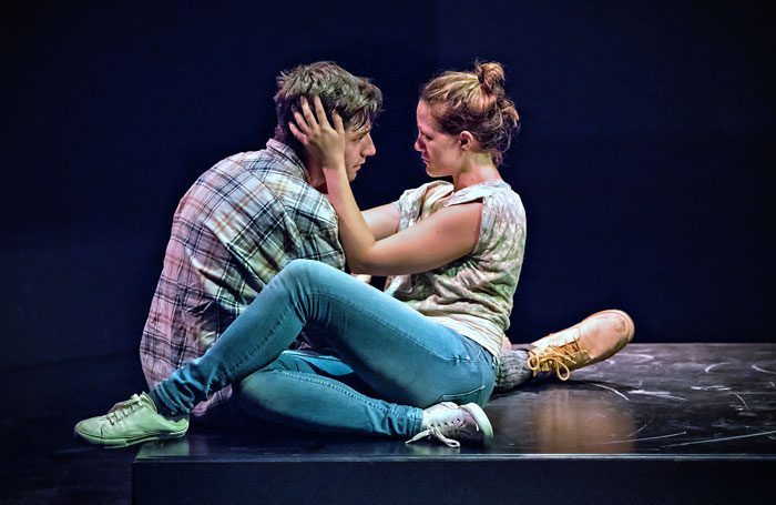 Harry Egan and Charlotte Bate in Blackthorn at Summerhall, Edinburgh. Photo: Anthony Robling
