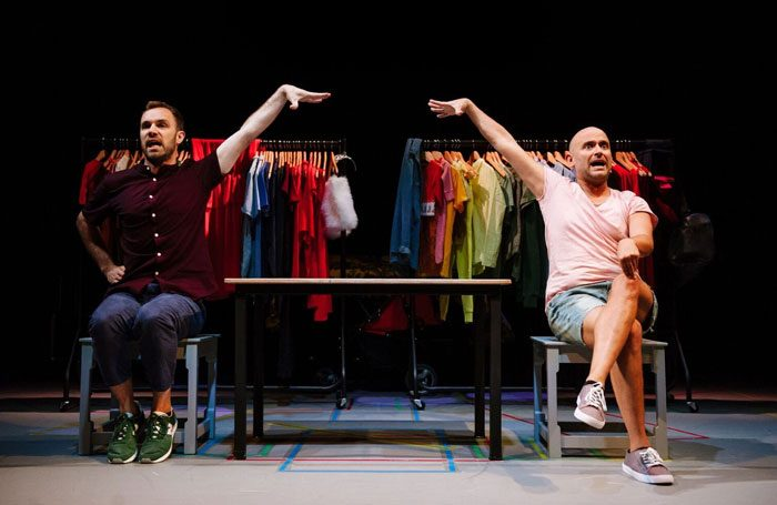 George Mann and Nir Paldi in No Kids at Pleasance Courtyard, Edinburgh. Photo: Alex Brenner