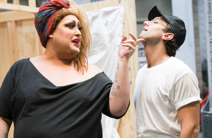 Vicky Vox and Marc Antolin in rehearsals for Little Shop of Horrors. Photo: Johan Persson