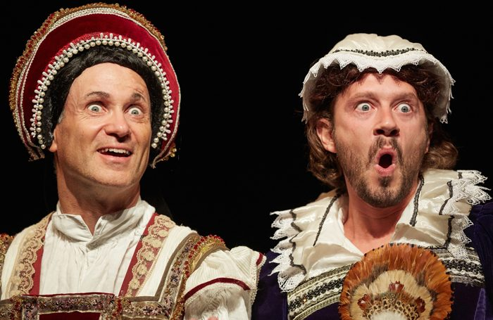 Neal Foster and Anthony Spargo in Horrible Histories - Barmy Britain - Part Four. Photo: Mark Douet