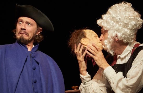 Neal Foster and Anthony Spargo in Horrible Histories: Barmy Britain - Part Four. Photo: Mark Douet
