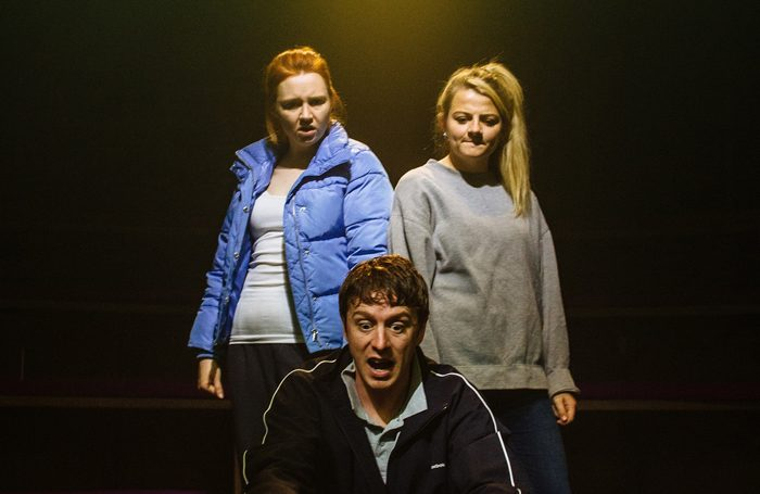 Katherine Pearce, Jack Wilkinson and Charlotte O'Leary in Island Town. Photo: Rebecca Need-Menear
