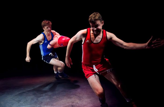 Gavin Jon Wright and Scott Fletcher in Square Go at Roundabout @ Summerhall, Edinburgh. Photo: Mihaela Bodlovic