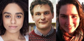 Indigo Griffiths, Matthew Gabrielli and Wendy Dickinson – the winners of Pitch Your Play