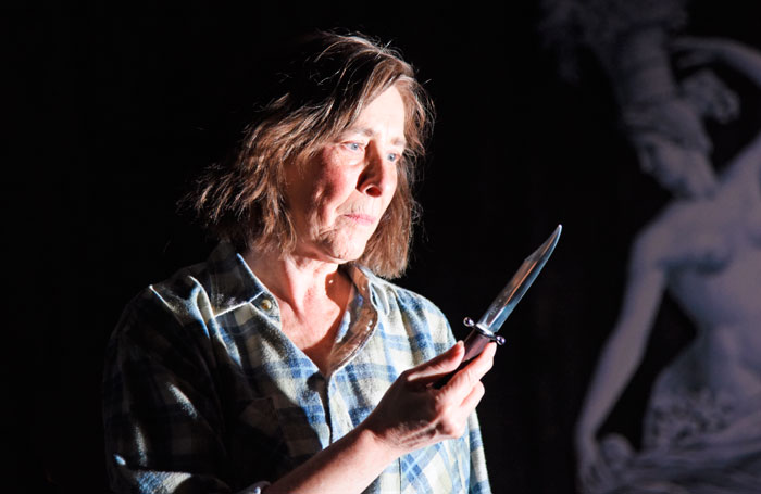 Phyllis Logan in Switzerland at Theatre Royal Bath's Ustinov Studio. Photo: Nobby Clark