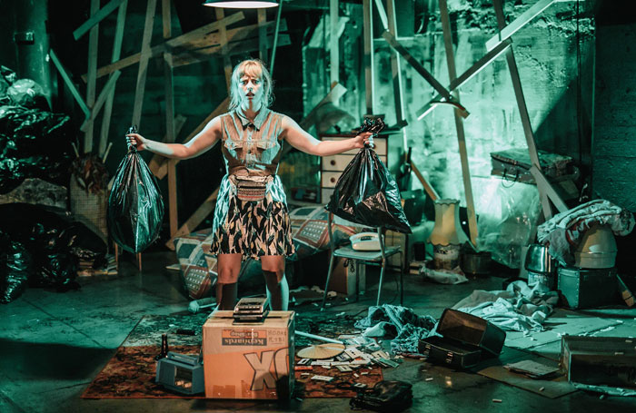 Stella Reid in The Basement Tapes at Summerhall, Edinburgh. Photo: Andi Crown