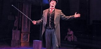 Marcus Brigstocke in Barnum. Brigstocke was widely reviewed as having been miscast in the role. Photo: Tristram Kenton