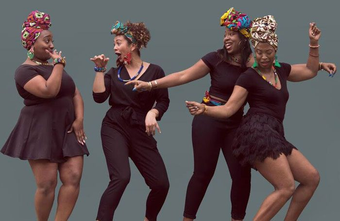 Rachel Clarke, Jacoba Williams, Koko Kwaku, Veronica Beatrice Lewis in Queens of Sheba at Underbelly Cowgate, Edinburgh