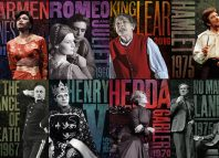 The stamps include Judi Dench and John Stride in Romeo and Juliet in 1960 alongside Glenda Jackson's King Lear in 2016