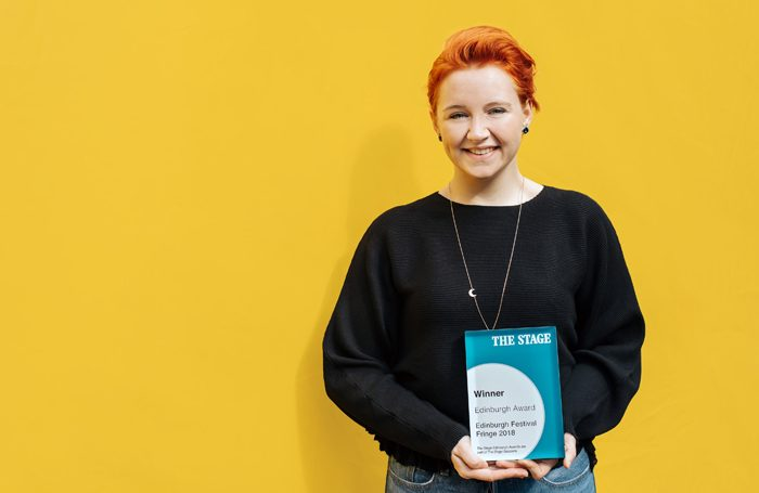 The Stage Edinburgh award-winner Katherine Pearce. Photo: Mihaela Bodlovic