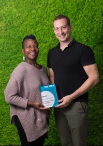 Jennifer Kidwell and Scott Sheppard, winners of The Stage Edinburgh award for Underground Railroad Game. Photo: Alex Brenner