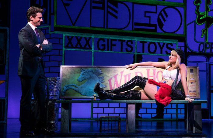 Andy Karl and Samantha Barks in Pretty Woman – The Musical at the Nederlander Theatre, New York. Photo: Matthew Murphy