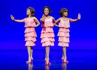 Anna Van Ruiten, Natalie Kassanga and Cherelle Williams as The Supremes, in Motown the Musical. Photo: Tristram Kenton