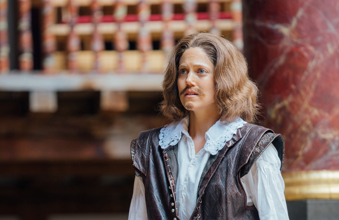 Charity Wakefield as Shakespeare in Emilia. Photo: Helen Murray