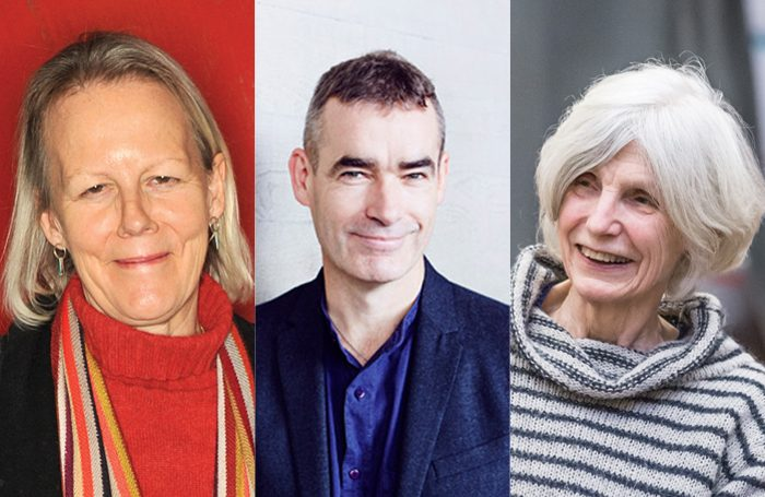 Phyllida Lloyd (photo: Nick Harvey), Rufus Norris (photo: Paul Plews) and Caryl Churchill (photo: Marc Brenner)
