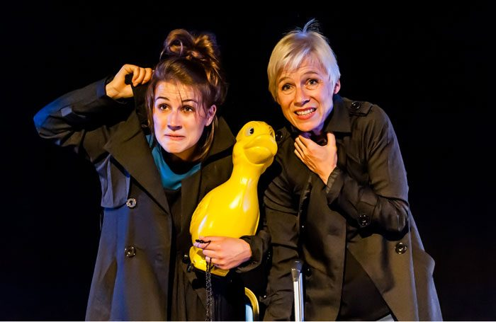 Josie Dale-Jones and Stefanie Mueller in Unconditional at Pleasance Courtyard, Edinburgh. Photo: Lidia Crisafulli