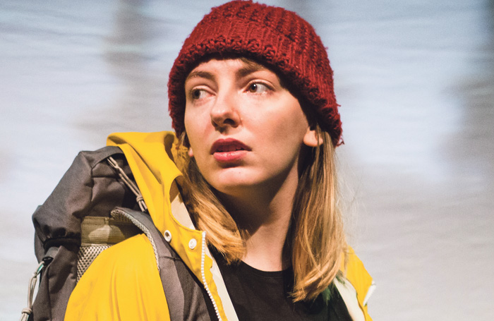 Samantha Miles in The Search for a Black-Browed Albatross, one of the shows Shows at Pleasance, Edinburgh (2018). Photo: Giulia Delprato