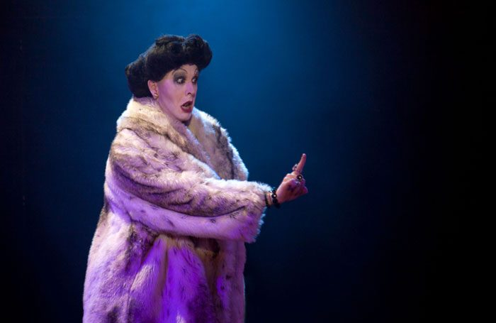 Peter Clements as Frau Welt. Photo: Holly Revell, Aine Flanagan
