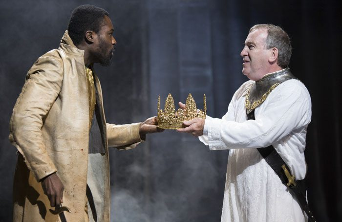 Jude Owusu and Mark Hadfield in Tamburlaine. Photo: Ellie Kurttz