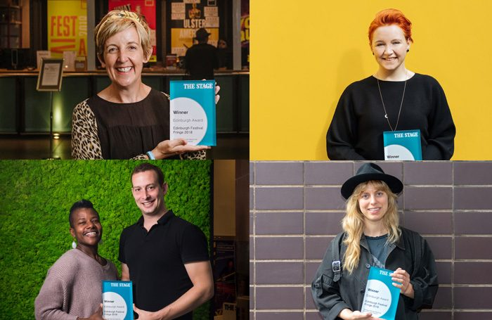 A selection of The Stage Edinburgh Award winners. Clockwise from top left: Julie Hesmondhalgh, Katherine Pearce, Scott Sheppard and Jennifer Kidwell, and Stella Reid. Photos: Roberto Ricciuti , Mihaela Bodlovic and Alex Brenner