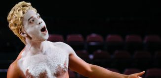 Ken Nwosu in An Octoroon at the National Theatre, the first play discussed by Black Theatre Club. Image Helen Murray
