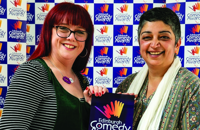 Angela Barnes and Sameena Zehra at the Edinburgh Comedy Awards. Photo: The Other Richard