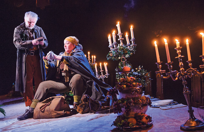 Allan Williams and Ashley McGuire in Light Shining In Buckinghamshire by Caryl Churchill at the Lyttelton, National Theatre. Photo: Tristram Kenton
