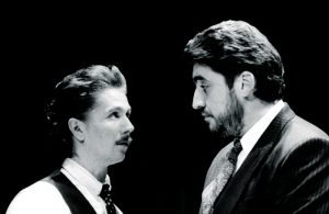 Gary Oldman and Alfred Molina in Serious Money, Royal Court. Photo: John Haynes