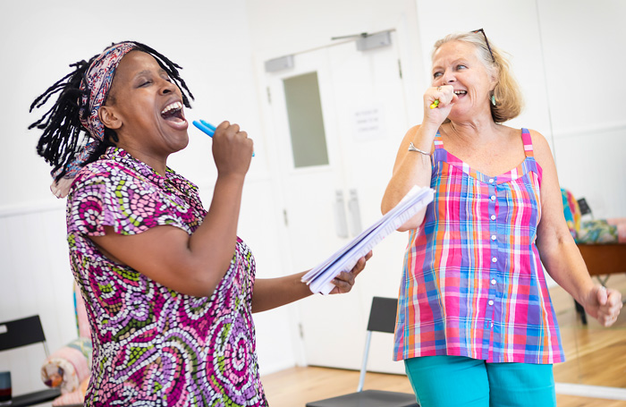 Melanie Marshall and Janet Fullerlove in rehearsals for Unexpected Joy. Photo: Pamela Raith Photography