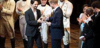 Lin-Manuel Miranda and Prince Harry at the Sentebale gala performance of Hamilton. Photo: Craig Sugden