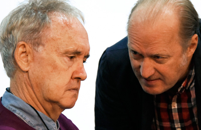 Nigel Planer and Adrian Edmondson in rehearsals for Vulcan 7. Photo: Nobby Clark