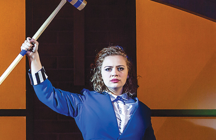 Carrie Hope Fletcher in Heathers the Musical. Photo: Pamela Raith