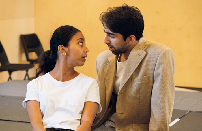 Anjana Vasan and Shubham Saraf in rehearsal for An Adventure. Photo: Helen Murray