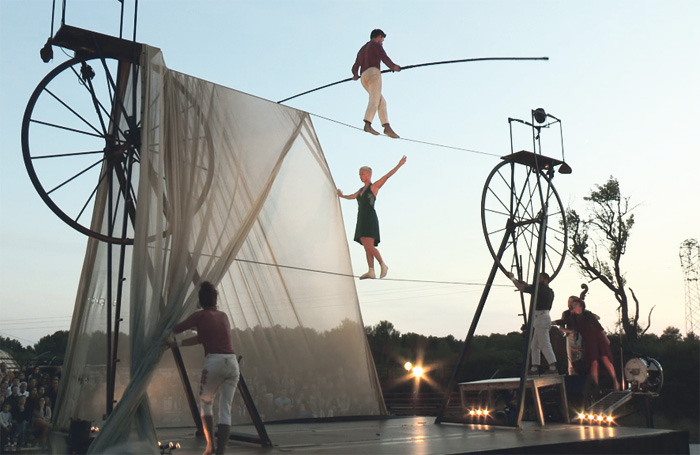 Cirque Roage's Sodade – part of Inside Out Dorset. Photo: E+N